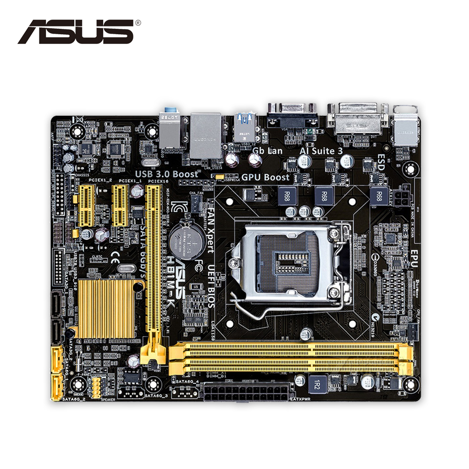 Asus H81M-K Desktop Motherboard H81 Socket LGA 1150 i7 i5 i3 DDR3 16G SATA3 UBS3.0 Micro-ATX asus h81 plus desktop motherboard h81 socket lga 1150 i7 i5 i3 ddr3 16g sata3 ubs3 0 atx second hand high quality
