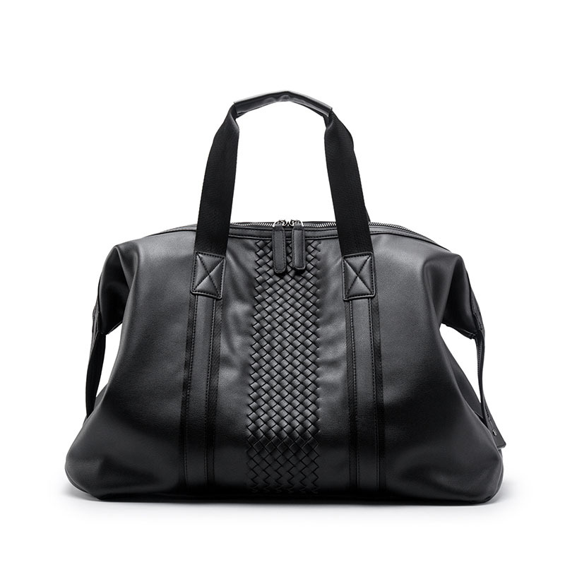 Briefcase Men's Cross Section Handbag Leisure Woven Official Business Bag PU Material Leisure Bag leisure