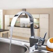 Najlepsza Jakość Hurtowych I Detalicznych Chrome Mosiądzu Bateria Kuchenna Wylewką Vessel Sink Mixer Wody Krany
