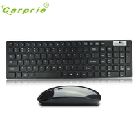 CARPRIE MotherLander High Quality Ultra Thin White 2 4G Cordless Wireless Keyboard And Optical Mouse Mar6
