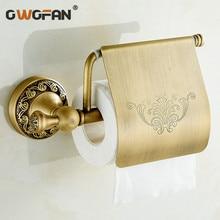 Free Shipping  antique toilet paper holder copper paper towel holder roll tissue box bathroom hardware  ZLY-8307F цены онлайн