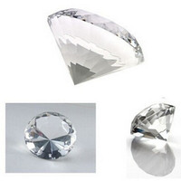 5pcs 60mm K9 Clear Crystal Diamond As Paperweight For Wedding Gifts For Home Decoration Diamond Part