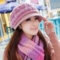 Зимняя шапка женская вязаная шапка шарф twinset женский вязаная шапка зимние женщин новый бренд женские год подарок шерсти теплый открытый наборы