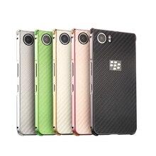 Luxury Aluminum Metal Frame Case For BlackBerry KEYone Carbon Fiber Back Cover for BlackBerry KEYone DTEK70 Phone Case 4.5''