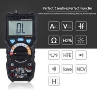 Multimeter Automatic LCD Display Electric Hand Held Tester Digital Multimetro Ammeter Capacitance Temperature Test Multitester