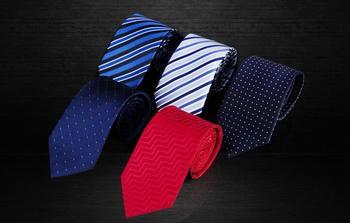 Fashion Brand Striped Mens Tie Business Necktie Wedding Neckwear Dot Jacquard Tie for Men Polyester Neck Ties