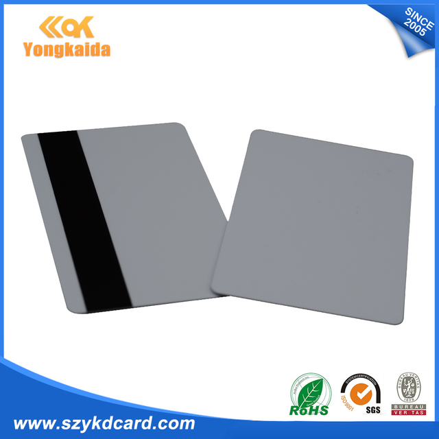 200pcs Blank HICO Magnetic Stripe PVC Credit Card Size for