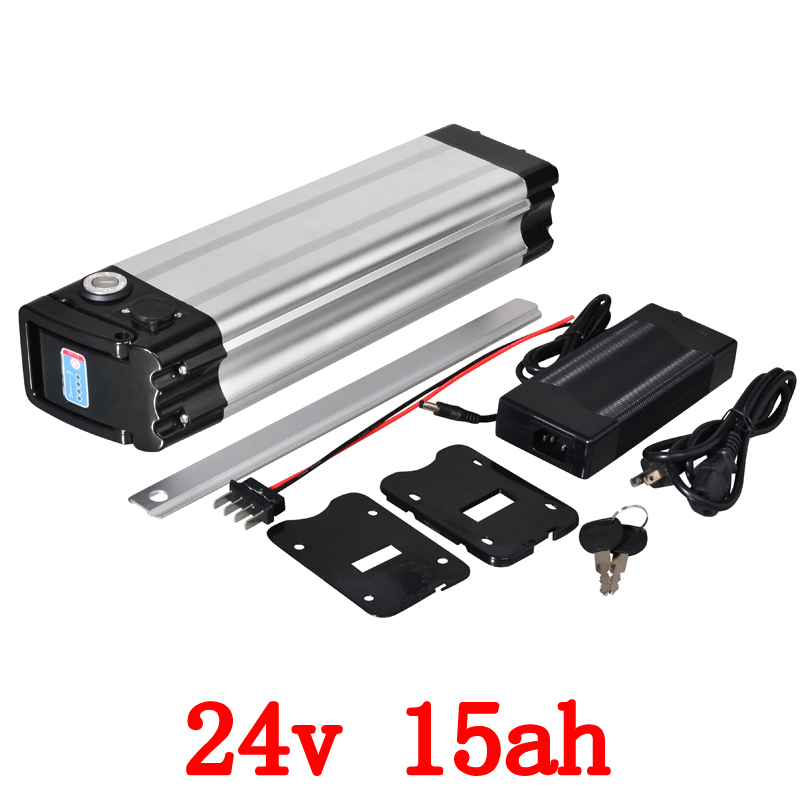 24V battery pack 350W 24V 15AH lithium ion battery 24V Electric Bike Battery with 29.4V 2A charger and 15A BMS Bottom Discharge free customs taxes super power 1000w 48v li ion battery pack with 30a bms 48v 15ah lithium battery pack for panasonic cell