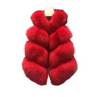 Lisa Colly Fake fur New women faux fox fur vest Winter Faux fur Vest Coat fashion luxury women's thick Furs vest Coat jacket