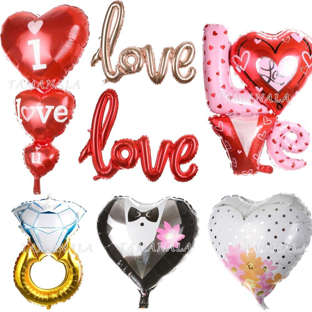 Anmas home i love you letter heart foil balloon for I love you letter balloons