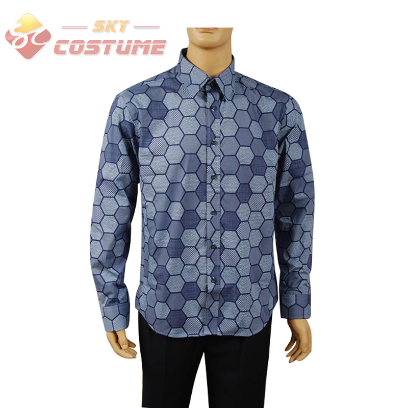 Batman Dark Knight Joker Hexagon Adult Men Shirt Halloween Movie Cosplay Costume