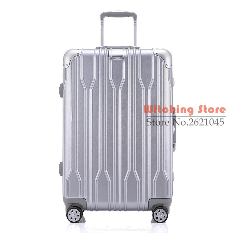24 INCH 2022242629 a direct aluminum frame universal wheel trolley suitcase male password board box corner