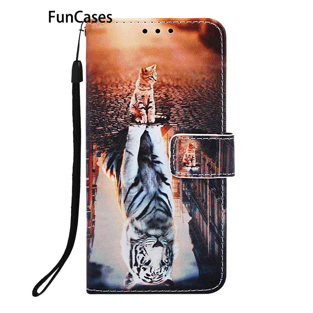 Cellular Phone Cases Für coque Samsung S9 Tier Cellular Weiche TPU Fall sFor Estojo Samsung Galaxy ajax S9 PU Leder flip Fall