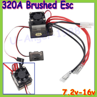 Free Shipping 2pcs Lot 320A 7 2V 16V Brushed ESC Speed Controller For RC Car Truck