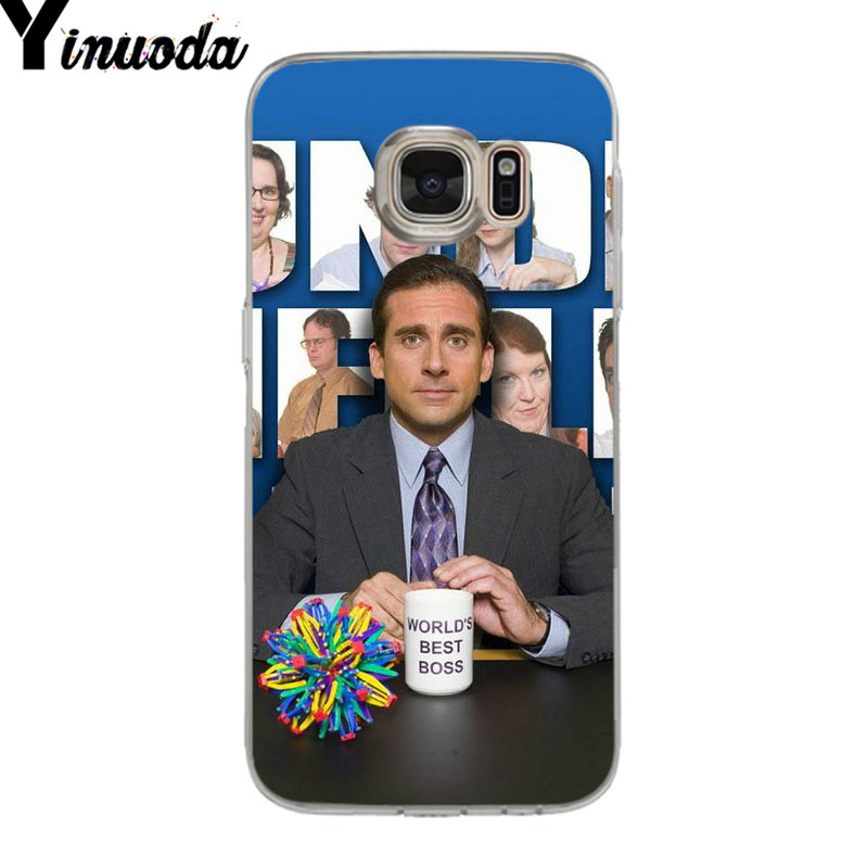 Yinuoda The office tv show soft tpu phone case cover for samsung galaxy S9 S7 S6 edge plus S5 S9 S8 plus case in Half wrapped Cases from Cellphones Telecommunications