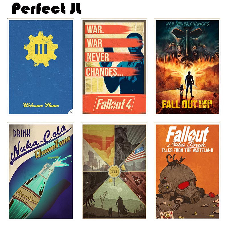 Fallout 4 Game poster series B Home Furnishing decorative white coated paper Poster Wall Sticker Home Decora image