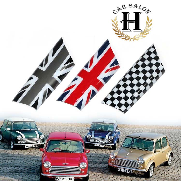 For Mini Cooper Door Knob Handle Cover Interior Decorative Accessories Sticker for R55 R56 R57 R58 Clubman Countryman Union Jack mini car rear door handle decoration moulding cover smooth surace union jack grey uk checkered for mini cooper clubman f54