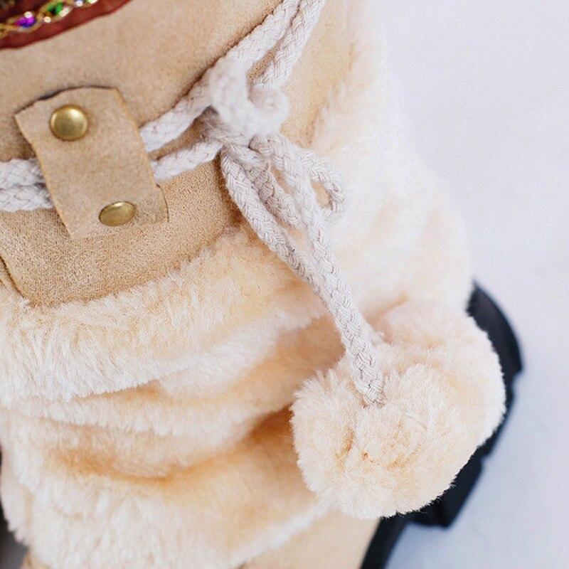 Felpa Hermosas Bloque camel Botas Nieve Creepers Borla Flecos Pantorrilla purple beige Mujer Media Cálidas Tacones De Zapatos Invierno Black Señoras r06qdrx