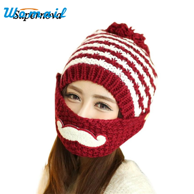 Hot Skullies Beanies Winter Hat pom pom Caps Striped For Women Girl Vintage Warm Spring Autumn Hat Female WOct4 Drop Shipping hot skullies beanies winter hat pom pom caps unicorn letter for women girl vintage warm spring autumn hat female woct4