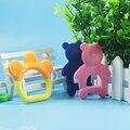 1 Pcs bebê recém-nascido Mordedor mordedor para o Bebê Infantil creme dental cor Forma dos desenhos animados de borracha de segurança dos brinquedos de morder Mordedores de Silicone