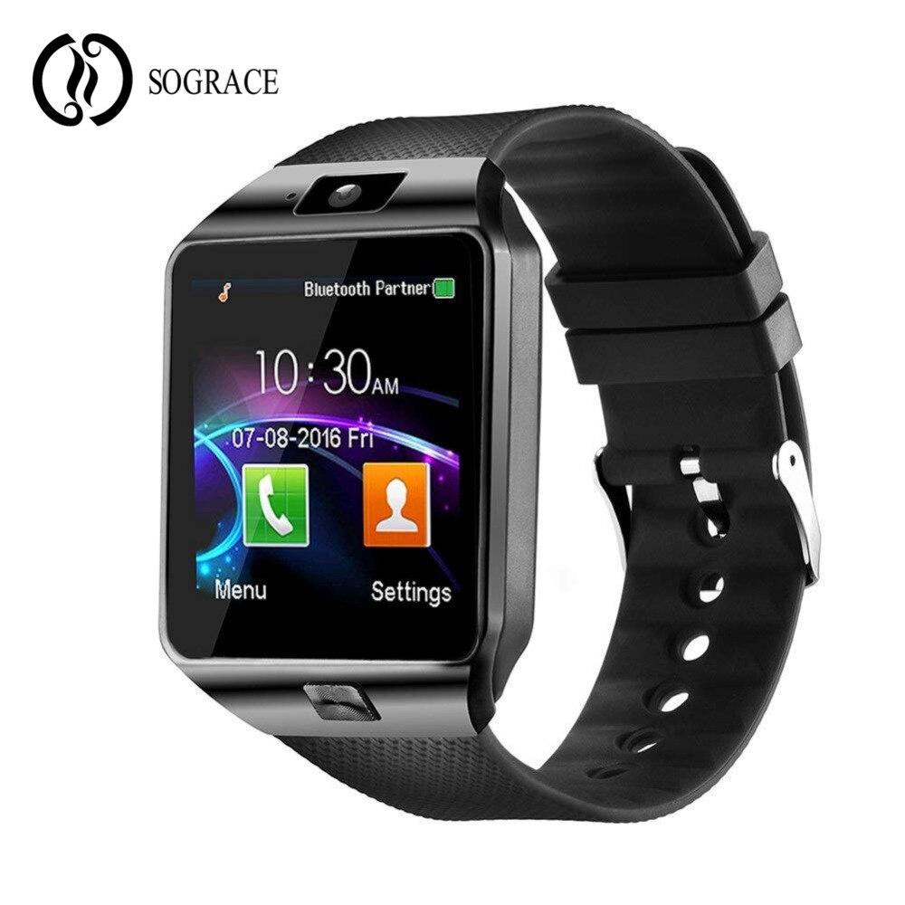 960426fa34c3 Comprar Reloj de pulsera inteligente DZ09 reloj inteligente Bluetooth  relojes de teléfono rastreador de Fitness ranura para tarjeta SIM Cámara  pantalla ...