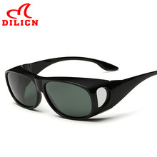 DILICN Classic Myopia Cover Sun Glasses Men Driver Covers Polarized Sunglasses Driving Gafas De Sol Hombre Driver Oculos UV400
