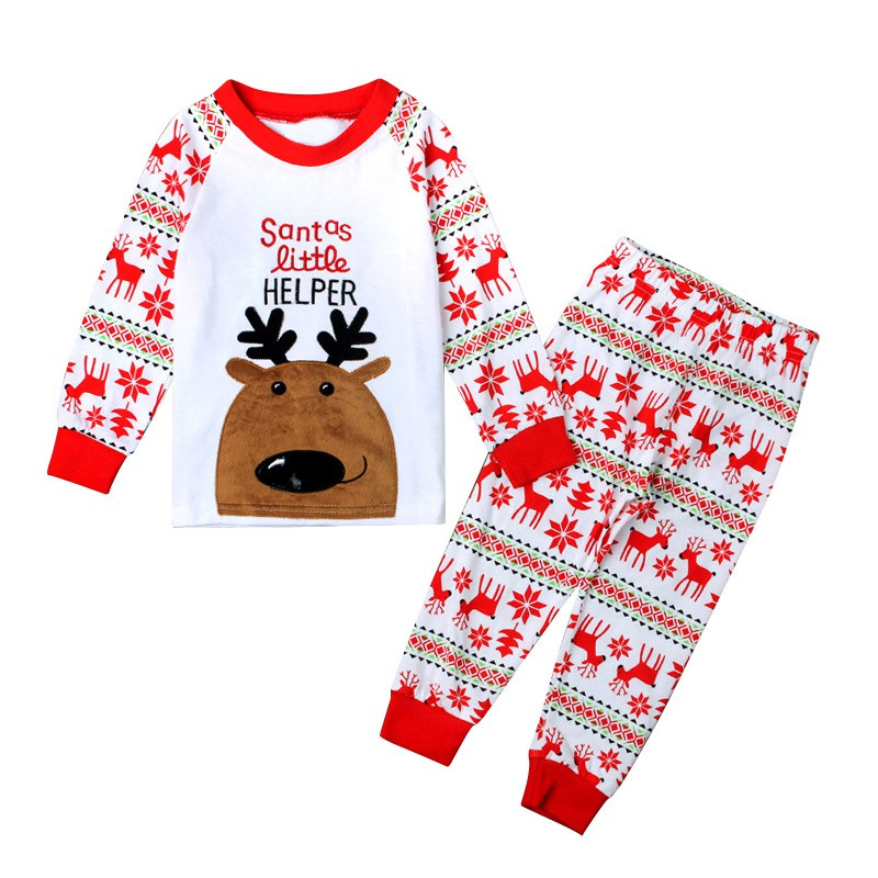 Baby Boys Girls Reindeer Home Sleepwear Set Kid Pajamas Nightwear 2-8Y pijama girls