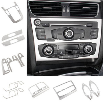 Silver Center Console Gear Shift Panel Decoration Air Outlet Cover