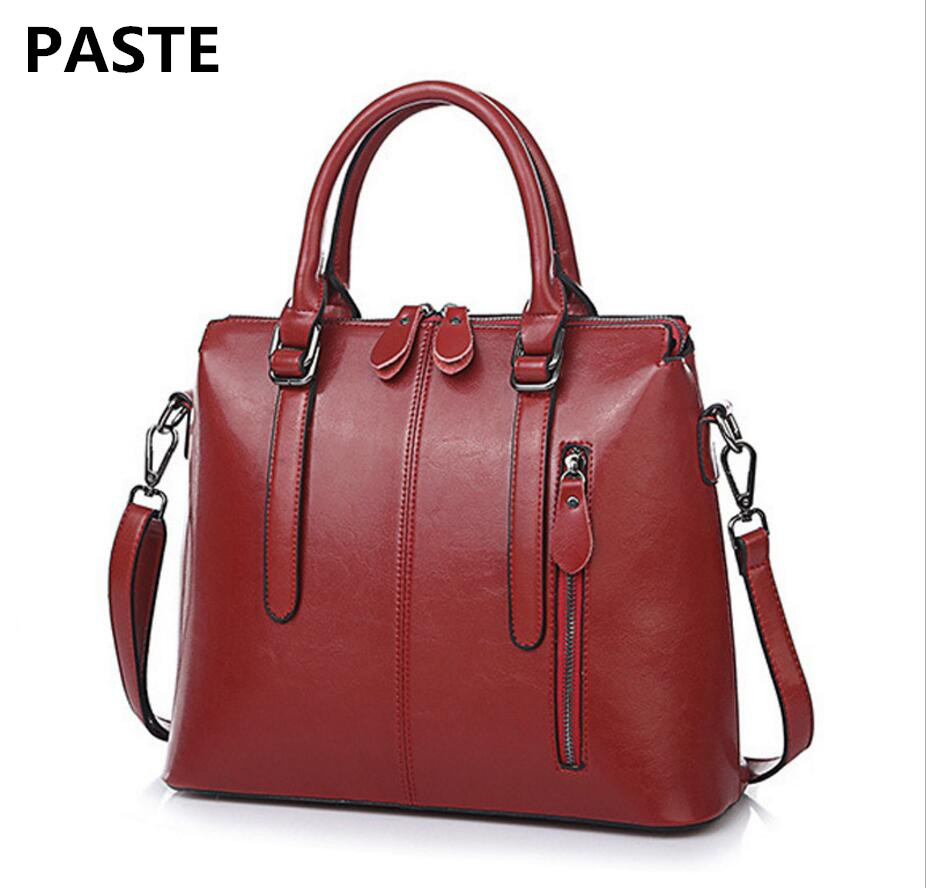 PASTEP 2017 New European and American Style Leather Handbags Fashion Ladies Handbag Messenger Bag Shoulder oil Wax Leather Bag компьютерные колонки logitech z506