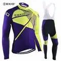 BXIO Cool cyclisme ensembles nouveau Roupa Ciclismo Masculino haute qualité vélo course Sport porter course à manches longues Blike vêtements 114