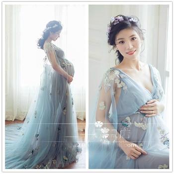 b3dd6e371 Maternidad fotografía Props embarazo Vestido fotografía maternidad vestidos  para sesión de fotos mujeres embarazadas Vestido Gravidas Clothe