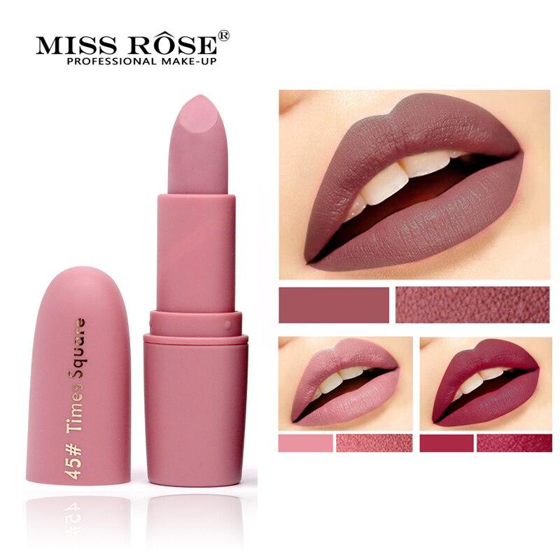 Fröken Rose Märke Makeup Matte Läppstift Skönhet Fuktgivande Lip - Smink - Foto 4