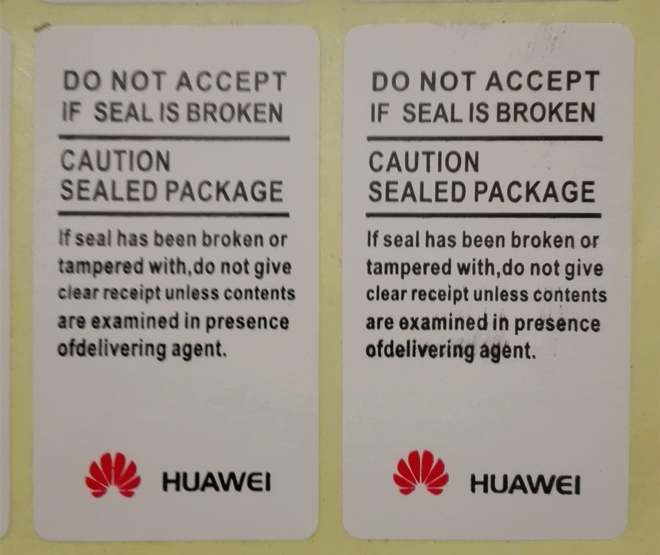 500 PCS/many Advanced Quality Sticker Huawei Guarantee Seal Label Stickers 4.5 X 2.5 Cm Free Shipping