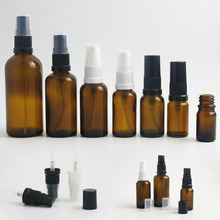 10 x 5ml 10ml 15ml 20ml 30ml 50ml 100ml Essential Oil Amber Glass Bottles With Sprayer For Liquid Reagent Pipette Portable clinique 5ml 15ml
