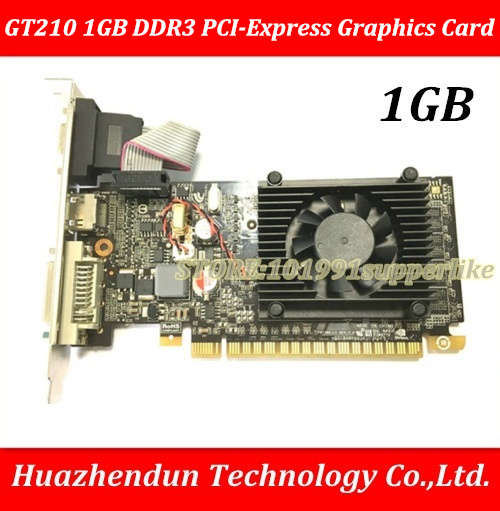 DEBROGLIE 1PCS Brand New Full height  GT210 REAL 1GB DDR3 PCI-Express Graphics video card адаптер dell 540 bbds i350 qp 1gb full height