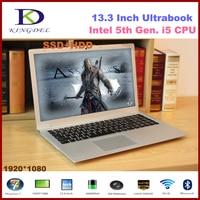 Full metal cas 13.3 ''ultrabook portable Intel Core i5 5200U 2.2 GHz avec 8 GB RAM + 256 GB SSD 1920*1080 HDMI Home ordinateur portable F200