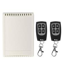 Commutateur de télécommande sans fil DC 12V 4CH 1 récepteur + 2 émetteurs 433MHz
