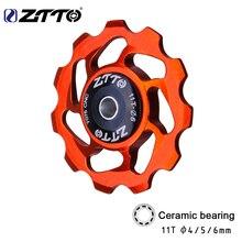 ZTTO 11T MTB велосипедный задний переключатель Jockey колесный керамический подшипник шкив CNC дорожный велосипед направляющий ролик 4 мм 5 мм 6 мм