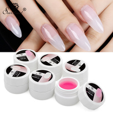 Saviland Nail Extension Gels Thick Builder Gel Professional Pink White Clear Color UV Gel Builder Acrylic Polish Set