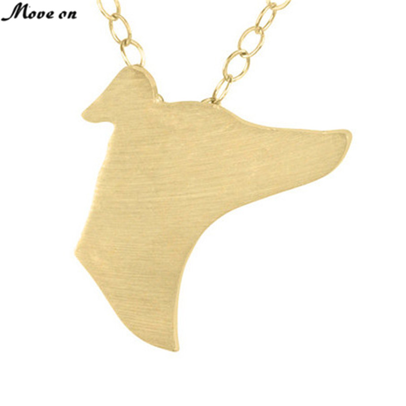 One Piece Greyhound Necklace Discontinued Charm Necklace Greyhound Animal Head Jewelry boho Pendants Necklace Memorial Gift