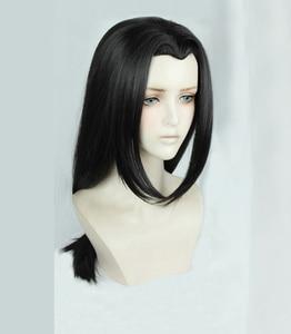 Image 2 - Anime Naruto Uchiha Itachi 60cm Long Black Styled OW Hanzo Shimada Heat Resistant Hair Cosplay Costume Wig + Free Wig Cap