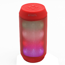 Portable colorful lights pulsating LED colorful wireless Bluetooth speakers mini small steel gun sound hands-free call subwoofer