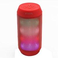 Tragbare bunte lichter pulsierende LED bunten drahtlose Bluetooth lautsprecher mini kleine stahlpistole sound hands-free anruf subwoofer