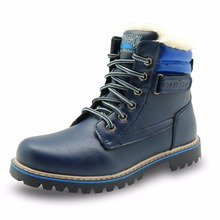 CNOHEHOK Children's Shoes PU Leather Kids Cowhide Boys Girls Woolen Boots Warm Big Kids Winter Snow Martin Boots for Girs Boys