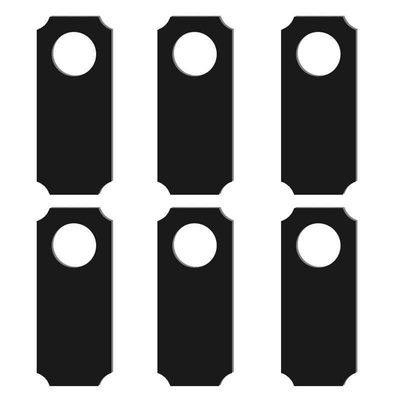 6pcs/set Wooden Blank Blackboard Shop Open Closed Door Hanging Sign Wedding Signs Rustic Wedding Decor Party Centerpieces To Be Distributed All Over The World Event & Party