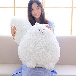 Image 2 - Kawaii puszysty kot pluszowe zabawki perski kot wypchane lalki miękkie poduszki wypchane zwierzę Peluches lalki dla dzieci zabawki dla dzieci prezenty świąteczne
