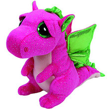 "Pyoopeo Ty Beanie Boos 10"" 25cm Darla the Dragon Plush Medium Big-eyed Stuffed Animal Collection Soft Doll Toy with Heart Tag(China)"