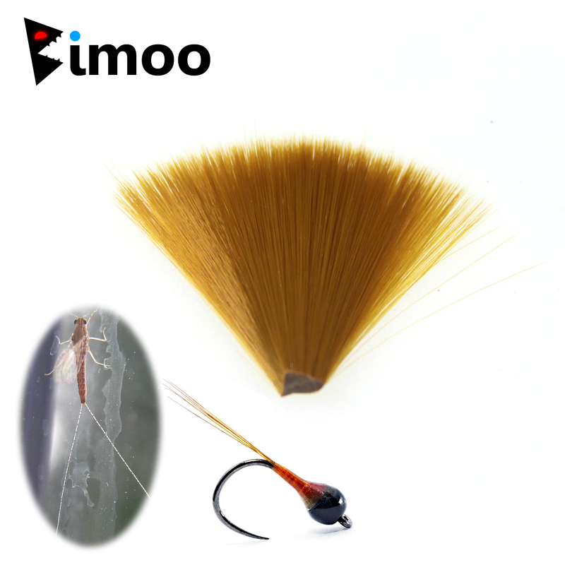 Bimoo Fine Diameter Brown Nylon Tapered Floating Fly Tying Mayfly Tail Fiber Perdigon Nymph Tails Fly Tying Material