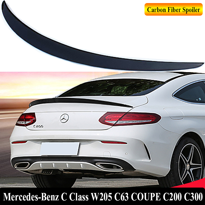 for mercedes benz c class w205 c63 coupe c200 c300 2015 2018 rear wing spoiler trunk boot wings. Black Bedroom Furniture Sets. Home Design Ideas