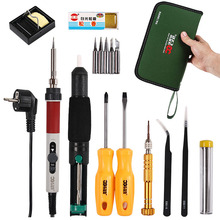 Electric Soldering iron 220V  Adjustable Temperature EU Plug Electric Soldering Iron Tips Kit Welding Repair Soldering Iron